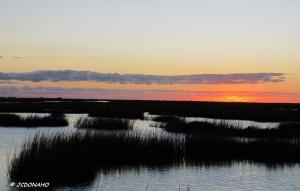 Sunset at Galveston West Bay